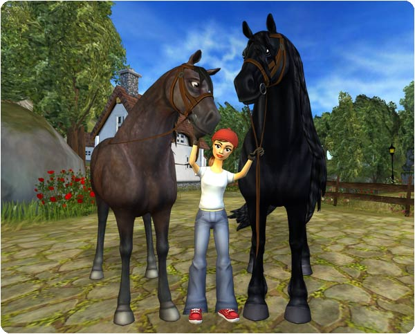 The Friesian horse is much bigger than the other horses on Jorvik!