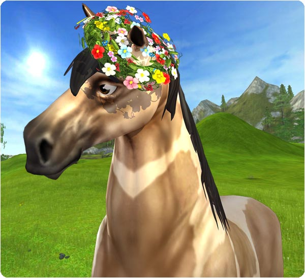 What a pretty Midsummer Horse!