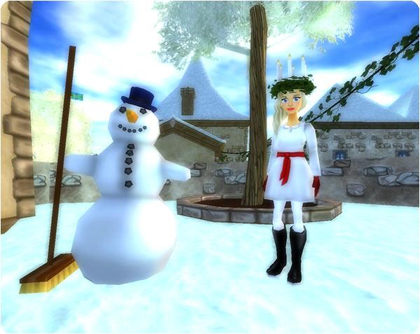 Vackert glittrande snö täcker Jorvik!