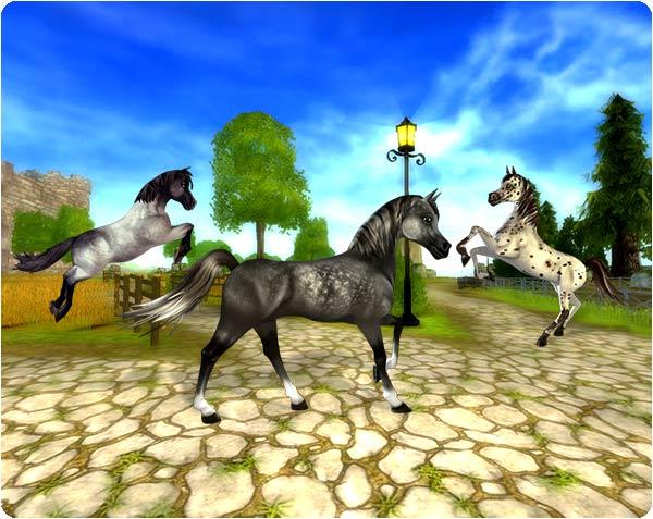 Supersöta hästar.