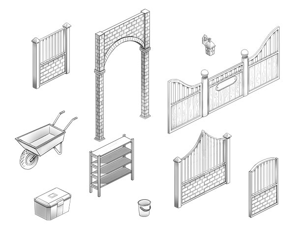 Check out some early sketches of the beautiful design elements in MyStable!