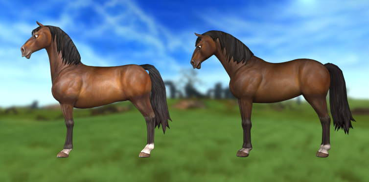Have a first look at the updated horse next to the current one!