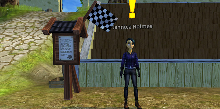 Try out Jannica's race!