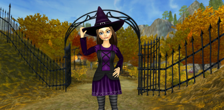 A hat worthy of a true witch. Even Pi thinks so!