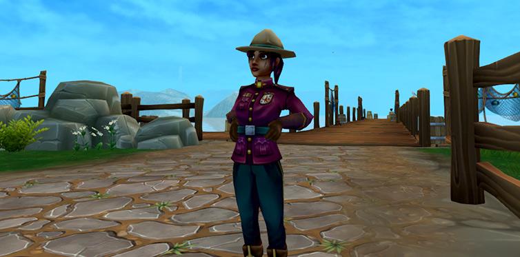 Lär dig om Mistfalls natur tillsammans med Violet!