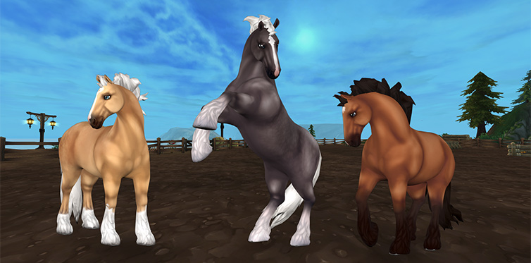 The Jorvik Wild Horses look like this in towns and villages…