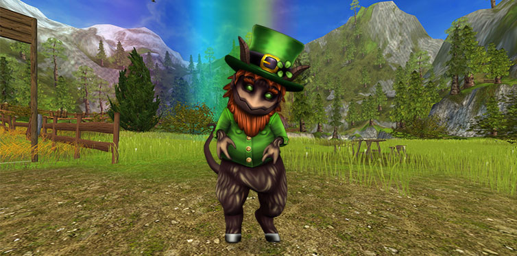 Meet Chaun, the grumpy leprechaun!